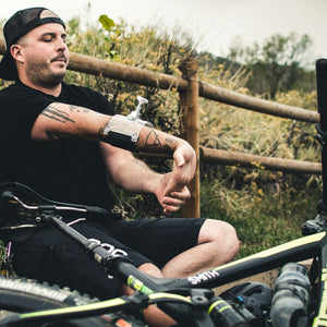 Treat forearm and elbow pain from mountain biking.