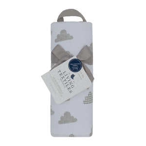 Cotton Muslin Swaddle - Grey Clouds