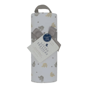 Cotton Muslin Swaddle - Little Elephants