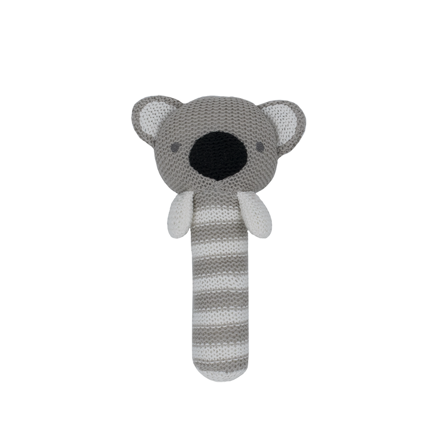 Cotton Knitted Rattle - Kassey Koala