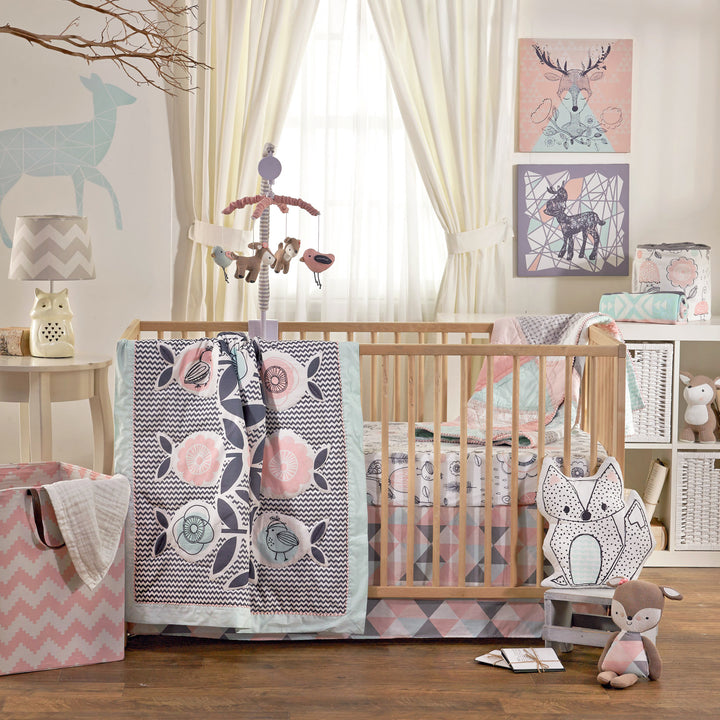 4pc Crib Bedding Set - Sparrow - Living Textiles Co.