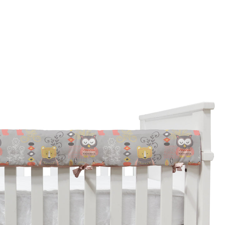 Crib Rail Cover - Pink Oasis - Living Textiles Co.