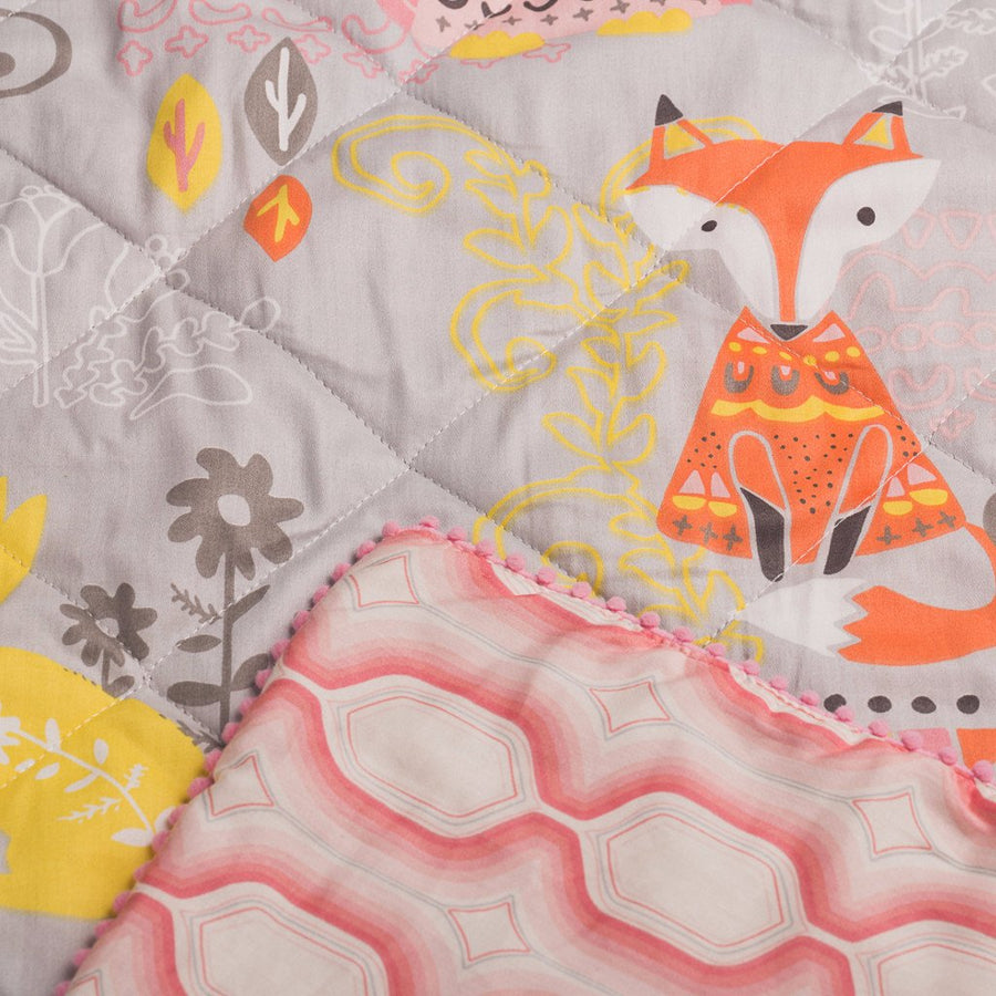 Baby Quilted Comforter - Enchanted Garden - Living Textiles Co.