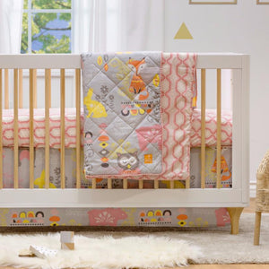 4pc Crib Bedding Set - Enchanted Garden - Living Textiles Co.