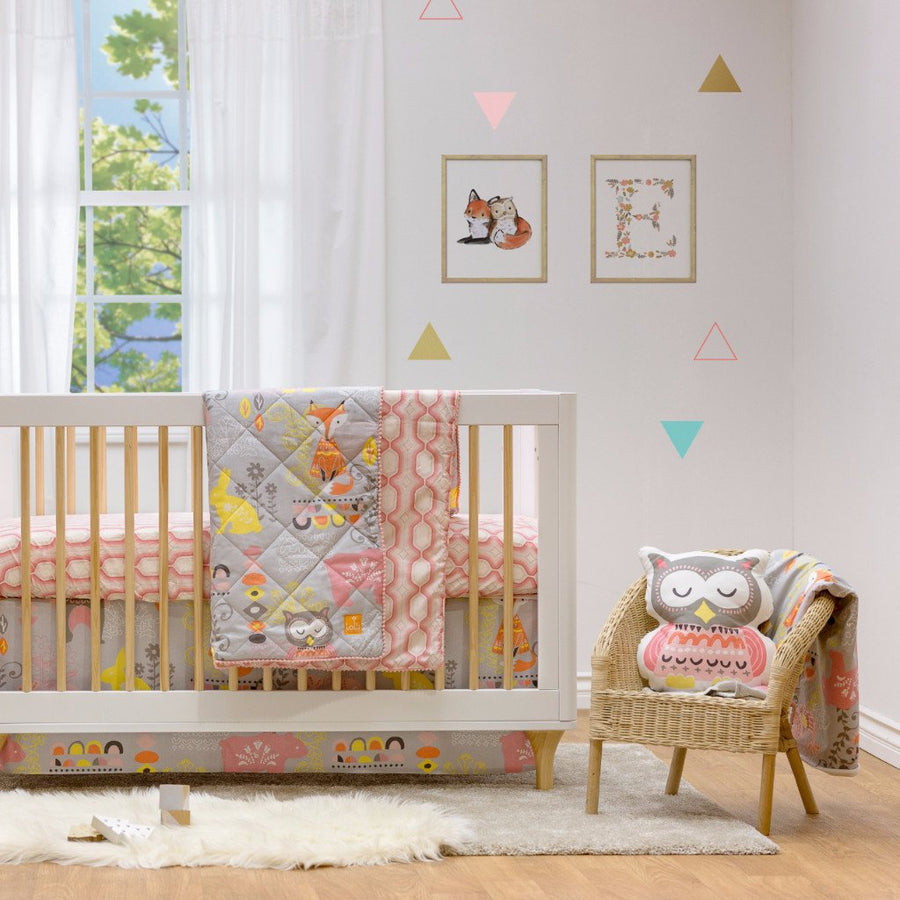 Baby Gift Ideas | Baby Quilted Comforter - Enchanted Garden - Living Textiles Co.