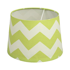 Lamp Shade - Green Zig Zag - Living Textiles Co.