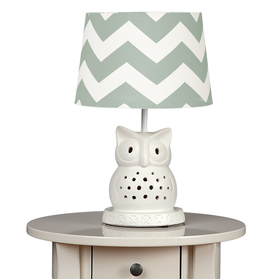 Lamp Shade - Grey Zig Zag