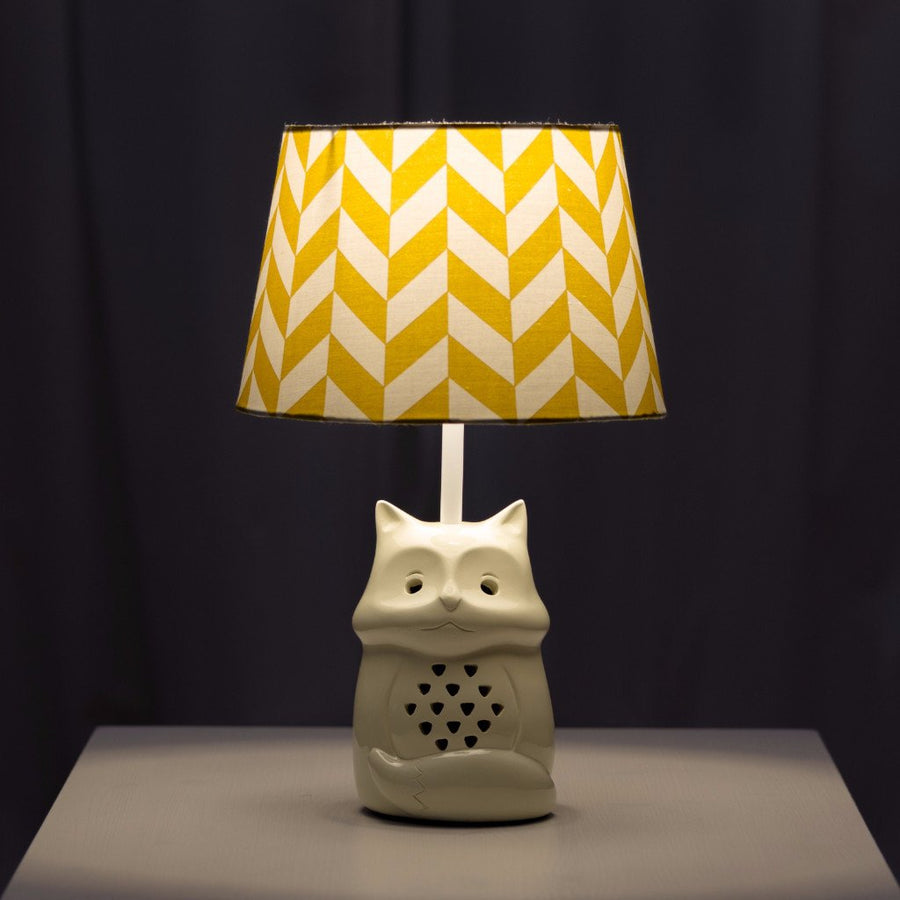 Lamp Base & Shade - Fox & Amber Herringbone - Living Textiles Co.