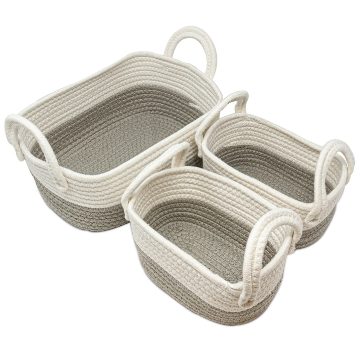 3PC Cotton Nursery Storage - Grey