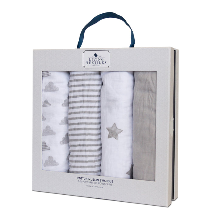 Best Baby Shower Gifts | Muslin Swaddle Blanket - Grey