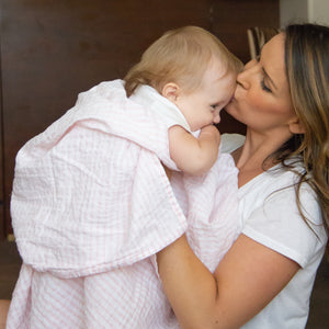 Unique Baby Gifts | Muslin Swaddle Blanket - Pink