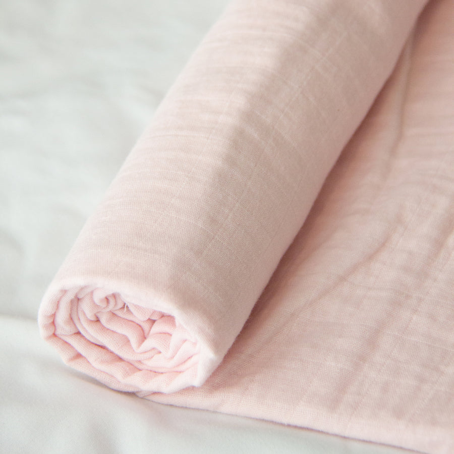4pk Muslin Swaddle Blankets Baby Bento Gift Set - Pink