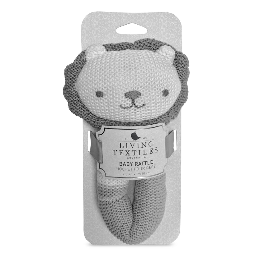 Knitted Rattle - Austin Lion