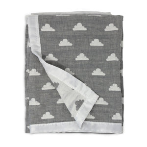 Muslin Jacquard Blanket - Grey Clouds