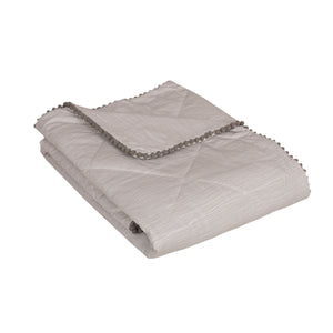 Baby / Toddler Quilted Comforter - Grey Crinkle