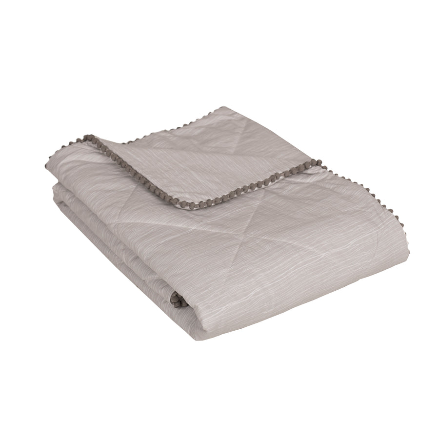Baby/Toddler Quilted Comforter - Grey Crinkle | Living Textiles Co.