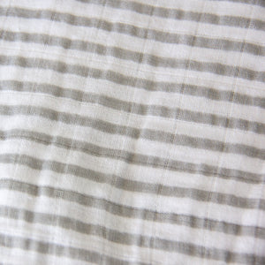 Muslin Crib Fitted Sheet - Grey Stripes