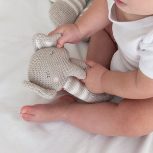 Knitted Rattle - Theodore Elephant