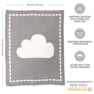 Cozy Chenille Baby Blanket - Cloud