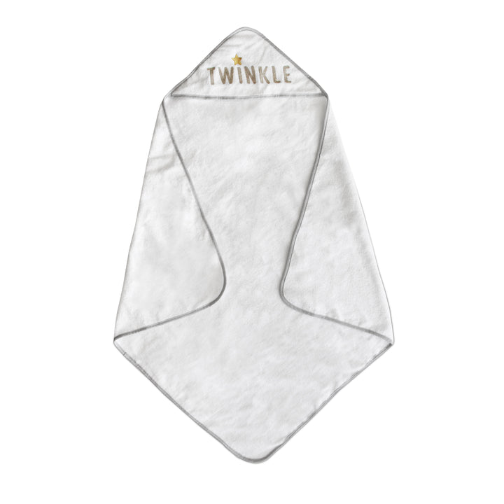 Hooded Towel - Embroidered Grey Twinkle