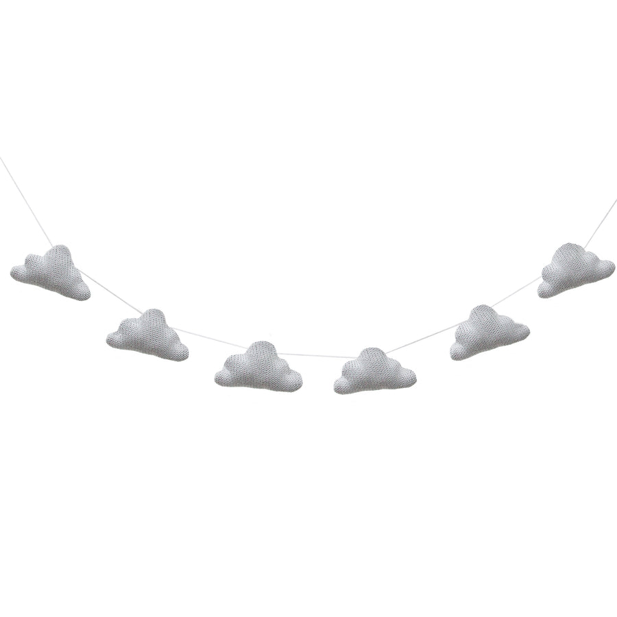 Knitted Garlands - Grey Clouds