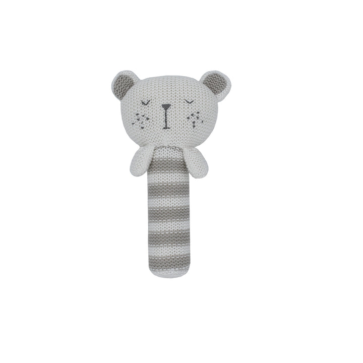 Cotton Knitted Rattle - Brooklyn Bear