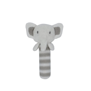 Cotton Knitted Rattle - Eli Elephant