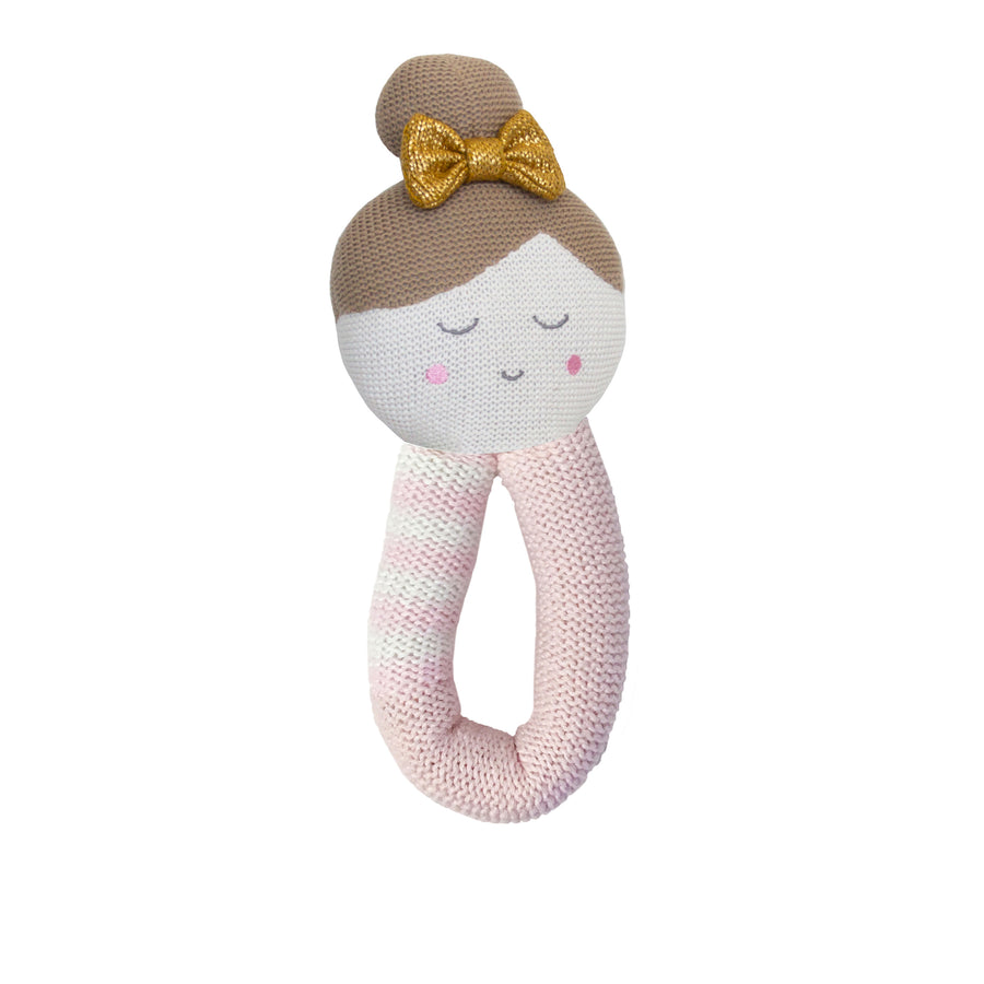 Cotton Knitted Rattle - Emma Ballerina