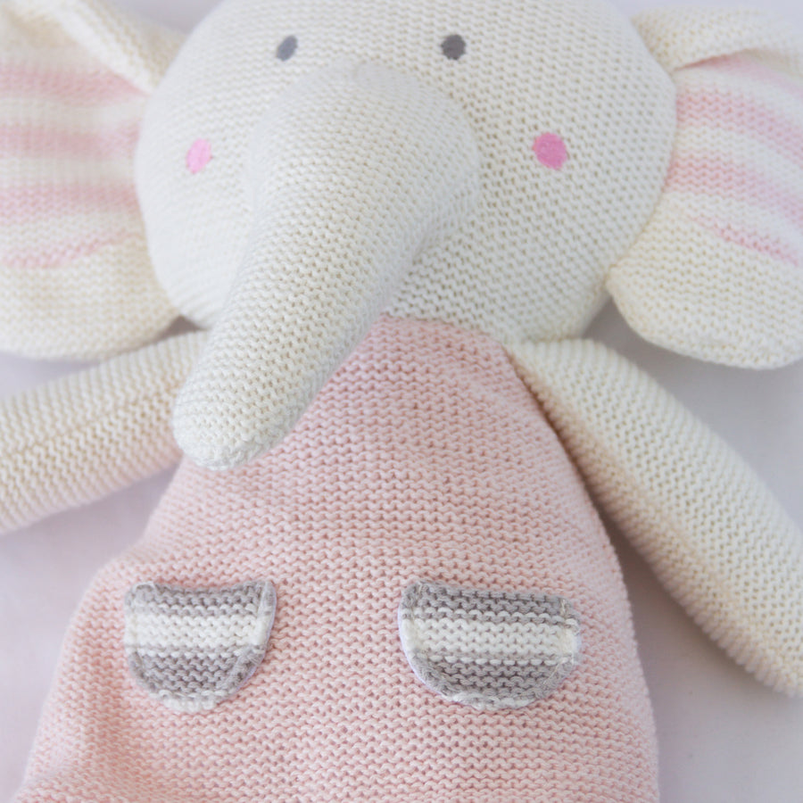 Knitted Toy - Amelia Elephant