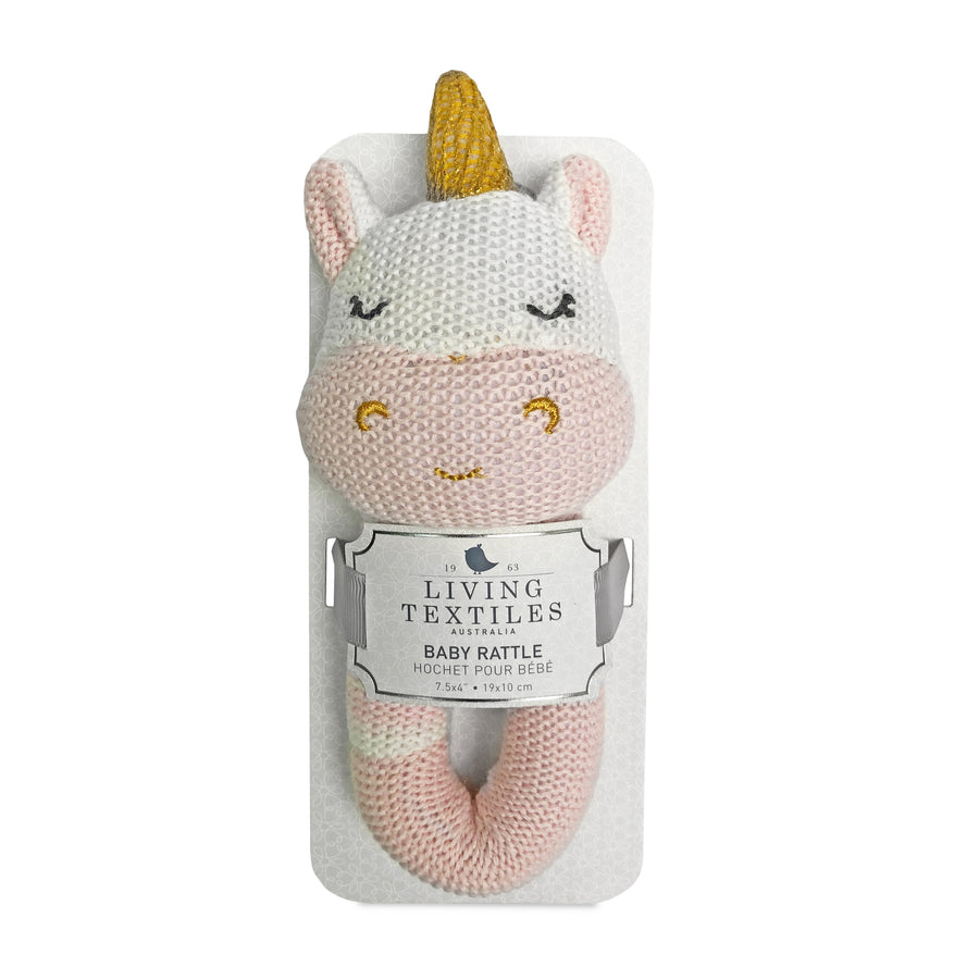 Knitted Rattle - Kenzie Unicorn