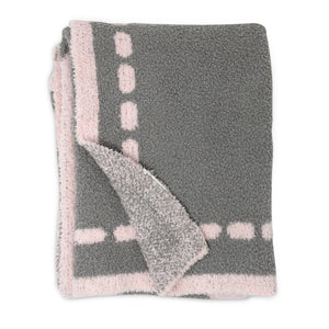 Cozy Chenille Baby Blanket - Pink Heart