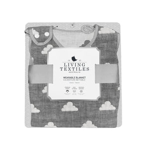 Cotton Muslin Jacquard Wearable Blanket - Grey Clouds