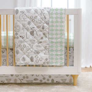 4pc Crib Bedding Set - Kayden Elle Elephant | Living Textiles Co.