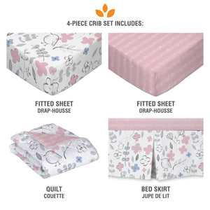 4pc Crib Bedding Set - Mazie