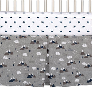 4pc Crib Bedding Set - Peaks | Living Textiles Co.