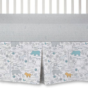 4pc Crib Bedding Set - Safari | Living Textiles Co.