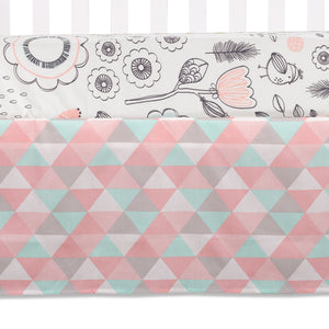 4pc Crib Bedding Set - Sparrow | Living Textiles Co.