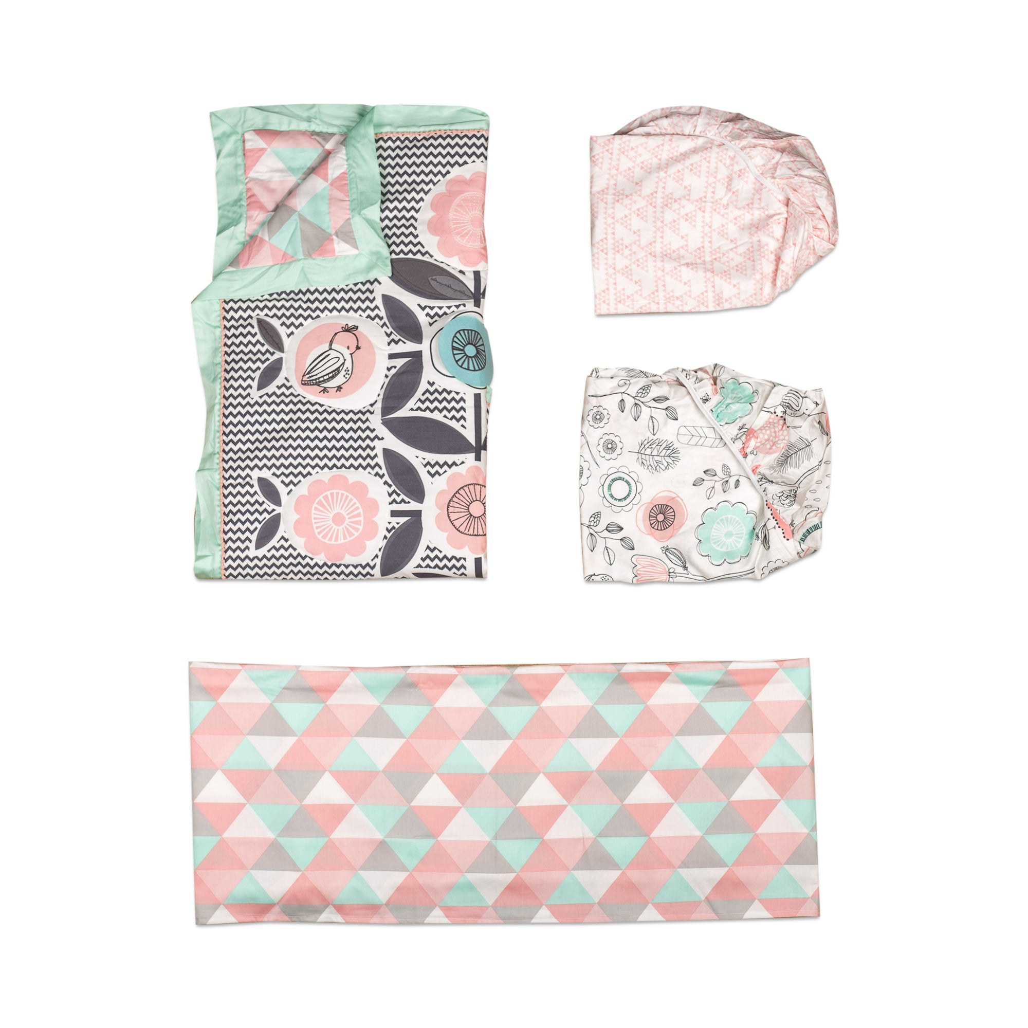 And Bed Skirt Lolli Living 4 Piece Baby Bedding Crib Set With Sparrow Pattern Complete Set With Quilt 2 Fitted Sheets Bedding Sets Baby