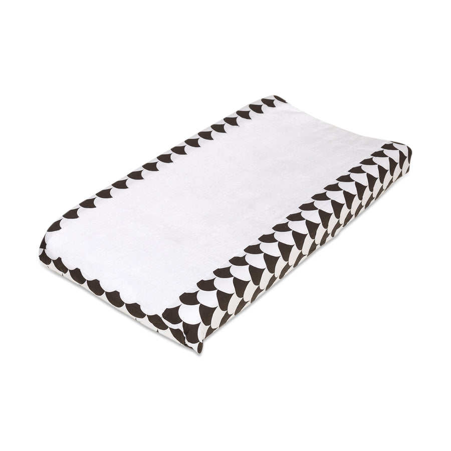 Changing Pad Cover - Kayden Black Scallops