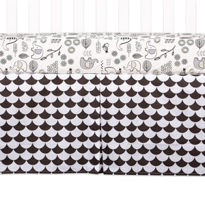 Crib Bed Skirt - Kayden Black Scallops