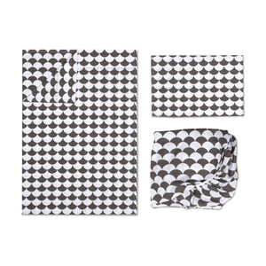 Toddler Sheet Set - Kayden Black Scallops