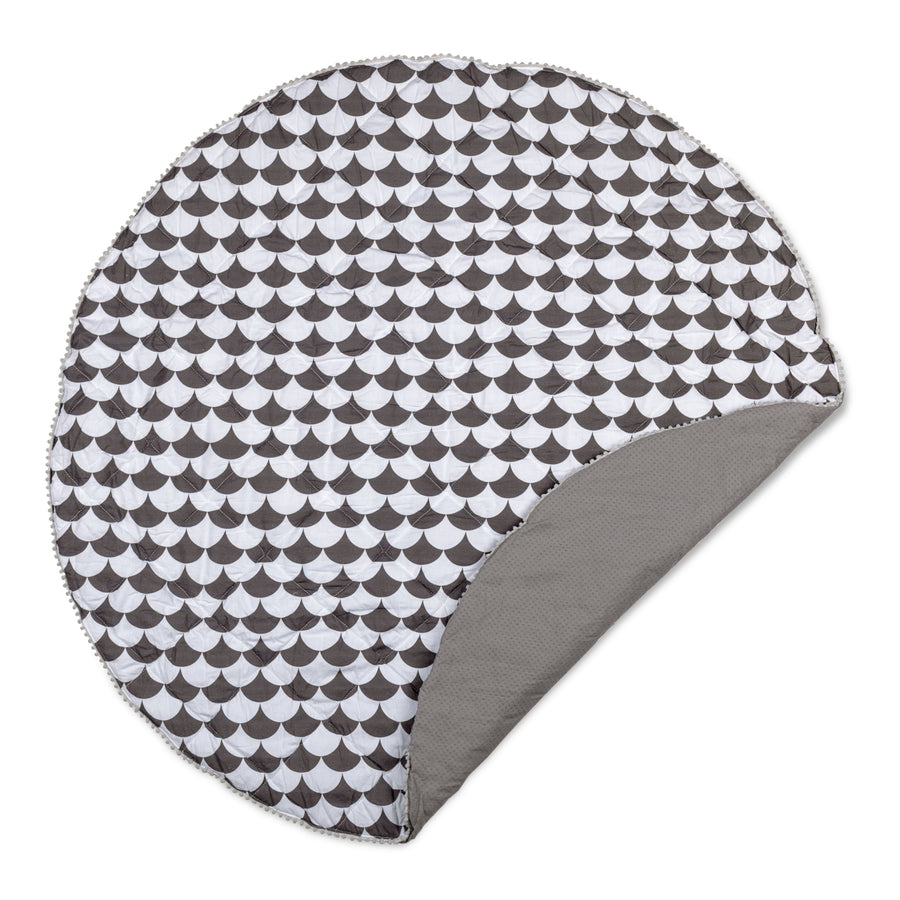 Play Mat - Kayden Black Scallops