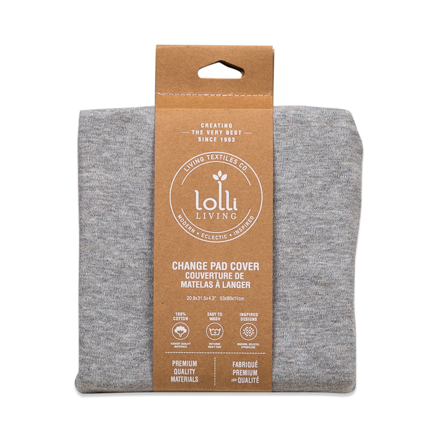 Baby Changing Pad Cover - Grey Marl | Living Textiles Co.