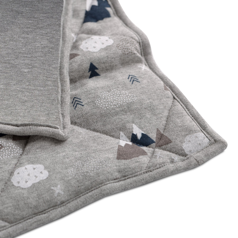 Baby/Toddler Quilted Comforter - Peaks | Living Textiles Co.