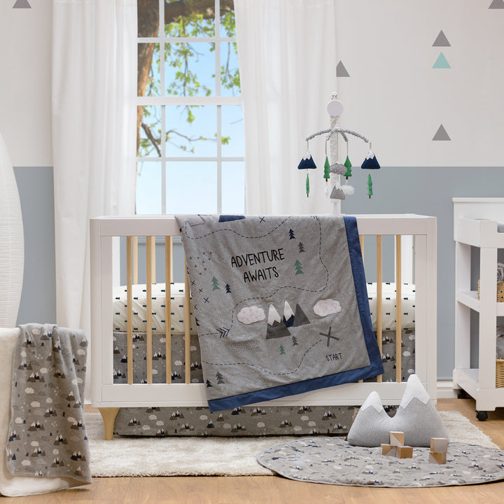 4pc Crib Bedding Set - Peaks