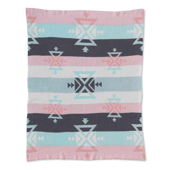 Baby Blanket - Aztec Knitted | Living Textiles Co.