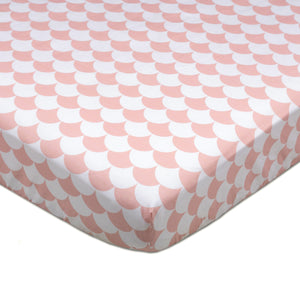 Crib Fitted Sheet - Kayden Pink Scallops