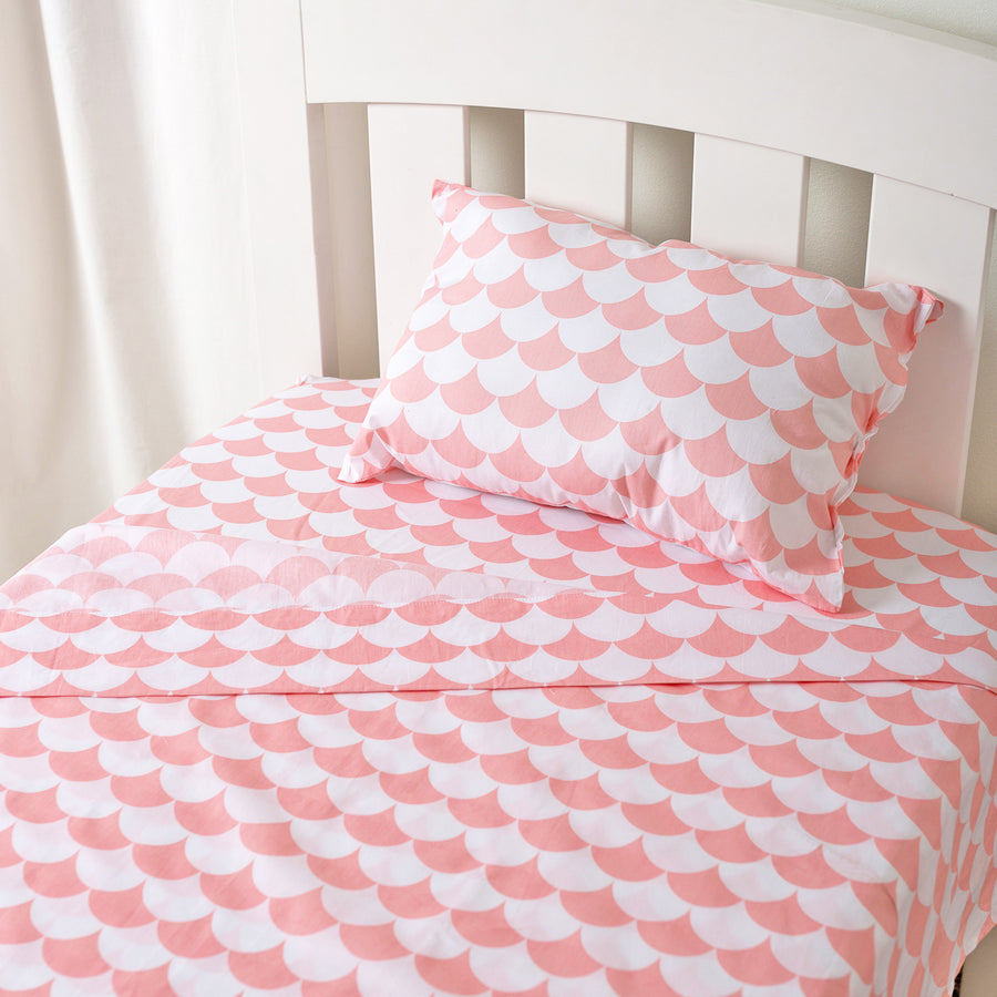 Toddler Sheet Set - Kayden Pink Scallops