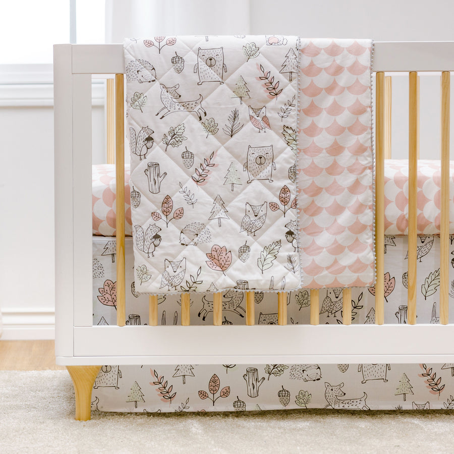 Baby/Toddler Quilted Comforter- Kayden Woodlands | Living Textiles Co.
