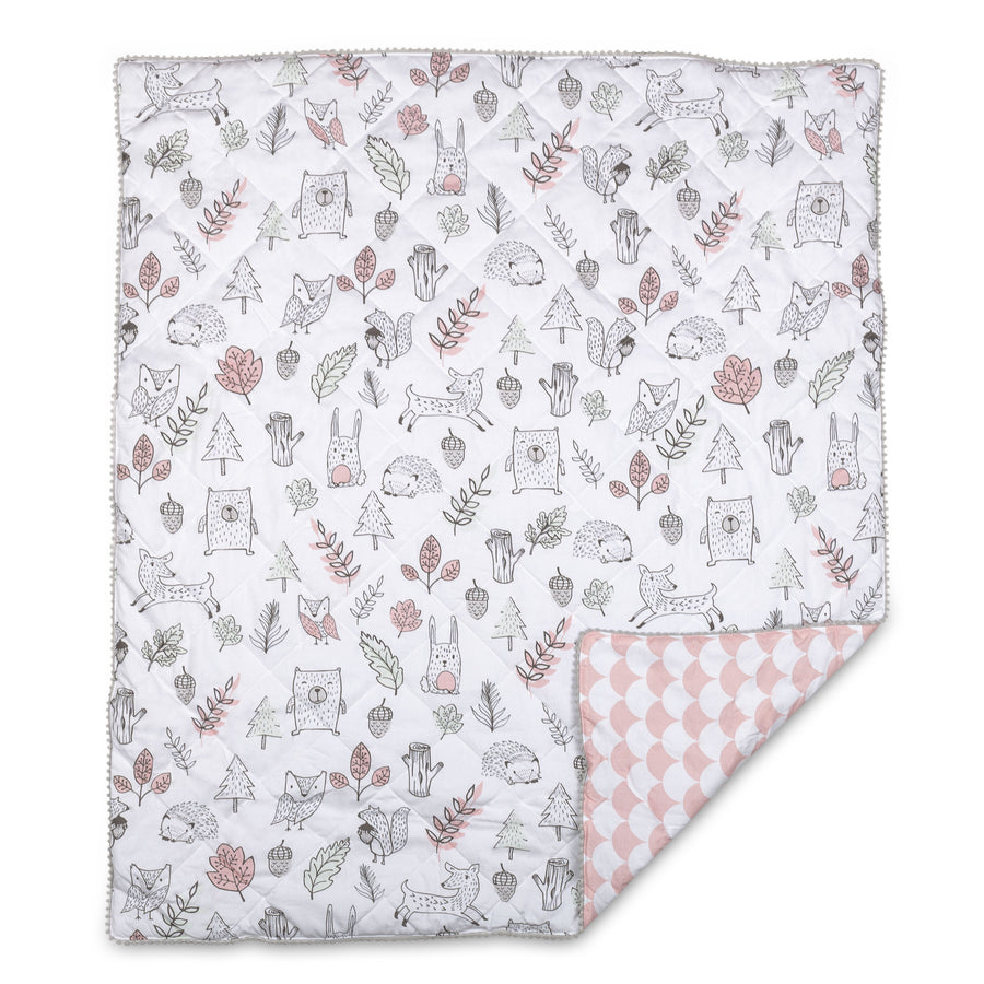 4pc Crib Bedding Set - Kayden Woodlands | Living Textiles Co.